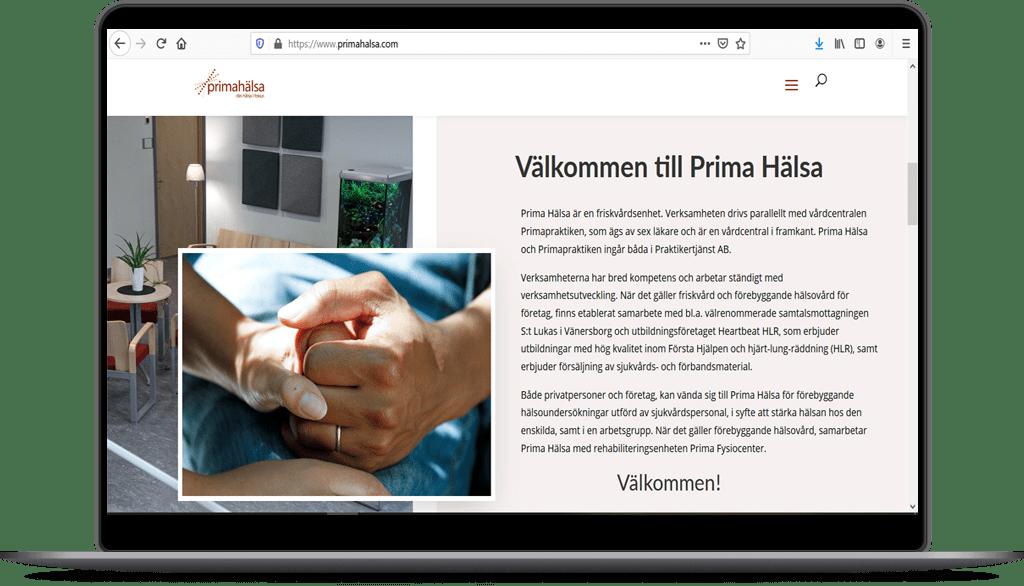 Prima Hälsa | Hemsida