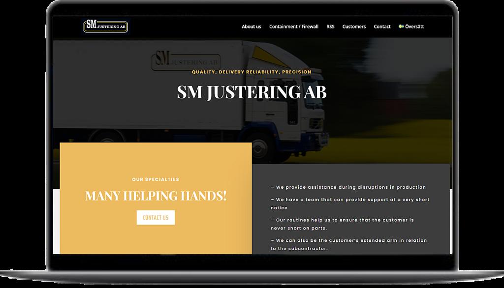 SM-Justering | Hemsida, Tvåspråkig